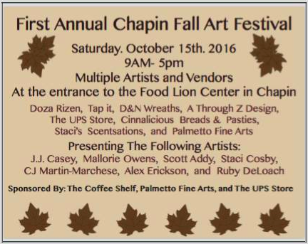 First Annual Chapin Fall Arts Festival