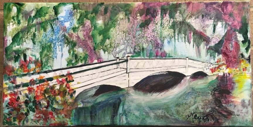 Reflections of a Long White Bridge