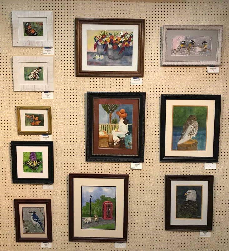 Artwork display - art by Cathy Dubiel