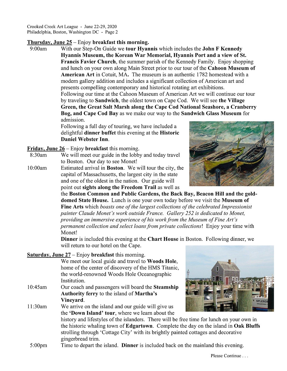 Monet and More Tour - Page 2