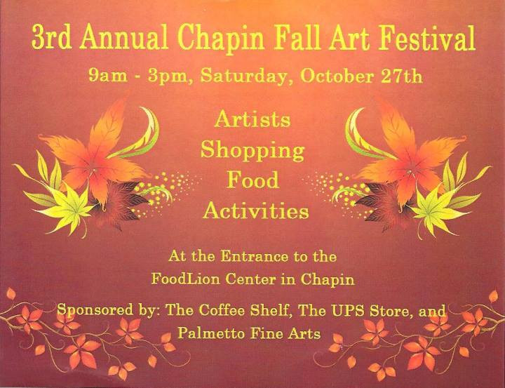 Flyer: Chapin Fall Arts Festival