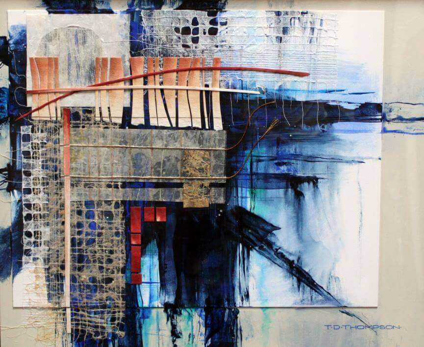 """Rift #3"" Abstract Mixed Media painting by Tommy Thompson"