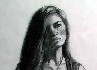 Portrait Drawing by Roy Paschal