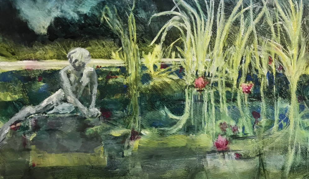 Contemplating the Lilies - Brookgreen