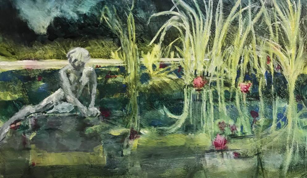 Contemplating the Lilies - Brookgreen