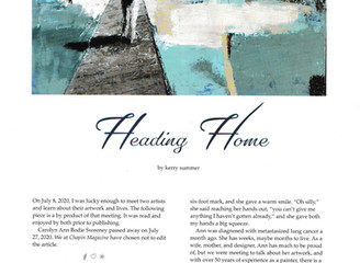 """Heading Home"" - CCAL Artists Featured in Chapin Magazine"