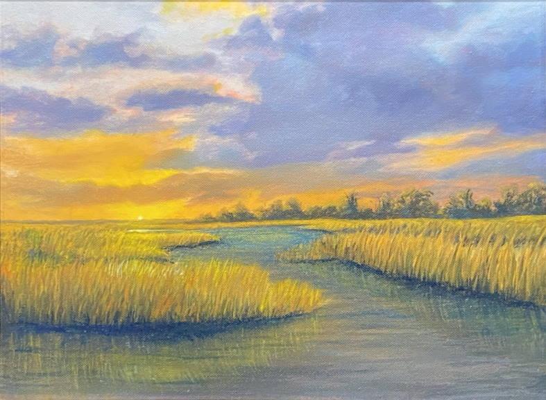 Beaufort Marsh at Sunset