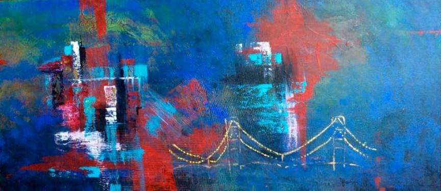 "Painting ""Bridge to Opportunity"" by Julie Larkin"