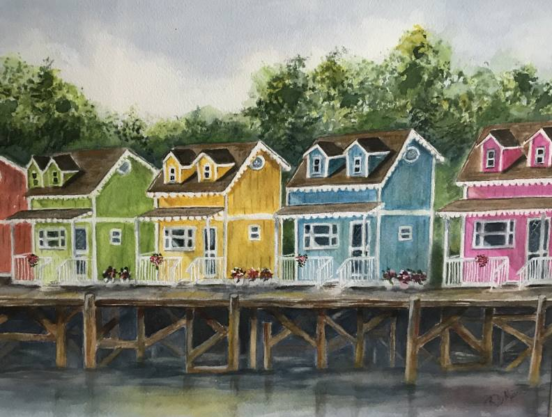 Rainbow Row, Outer Banks.Ruth DiMirra