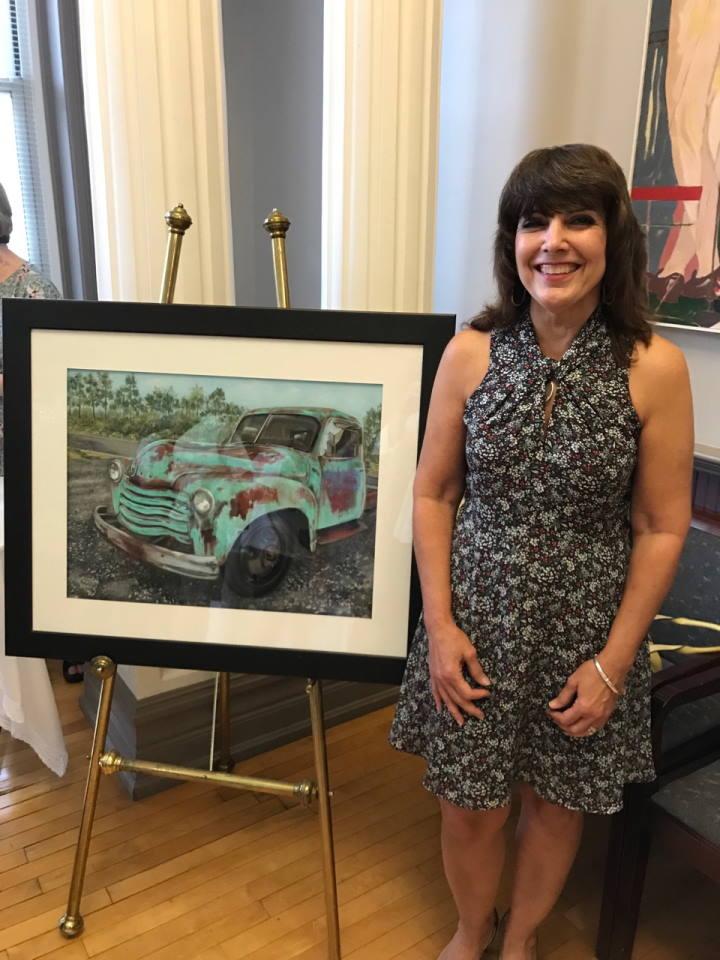 Debi Kelly with award winning piece