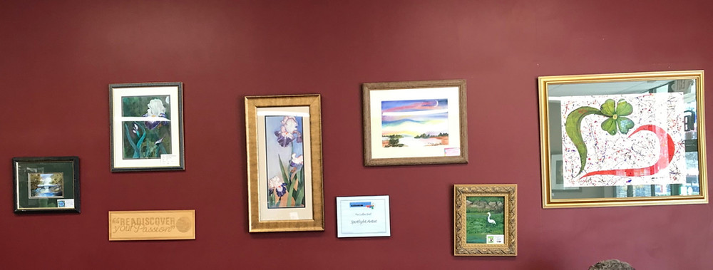 Ruby DeLoach display at The Coffee Shelf