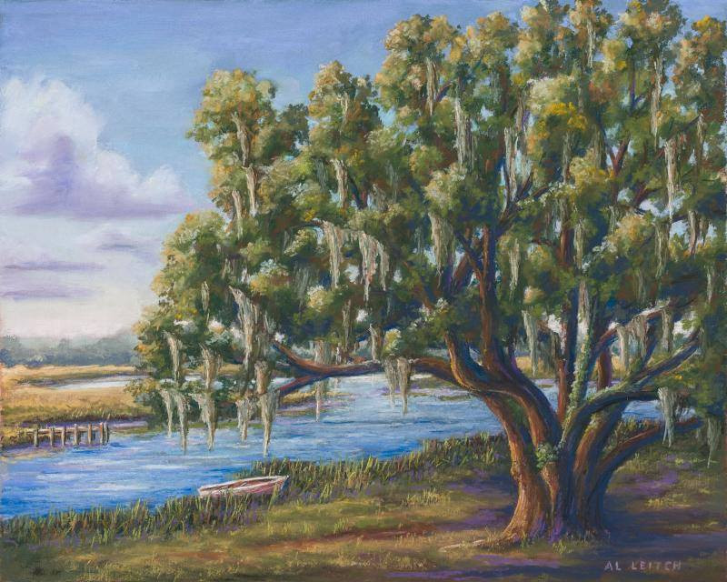 """Marsh Beauty"" Pastel Painting by Al Leitch"
