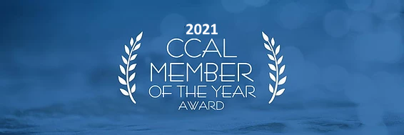 2021 CCAL Member of the Year Graphic