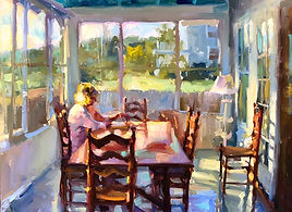 """Painting """"Summer Reading"""" by Shannon Smith Hughes"""