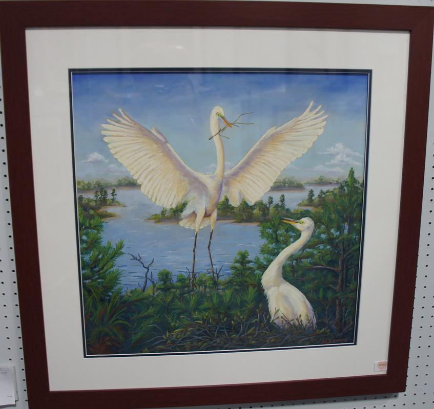 """Nesting Egrets"""