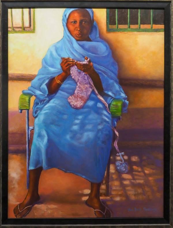 "Best in Show Winner: ""Somewhere in Sudan"" Oil Painting by Ann Sweeney"