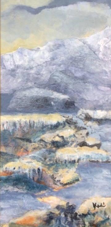 Sample Collage Landscape Painting by Julie Larkin