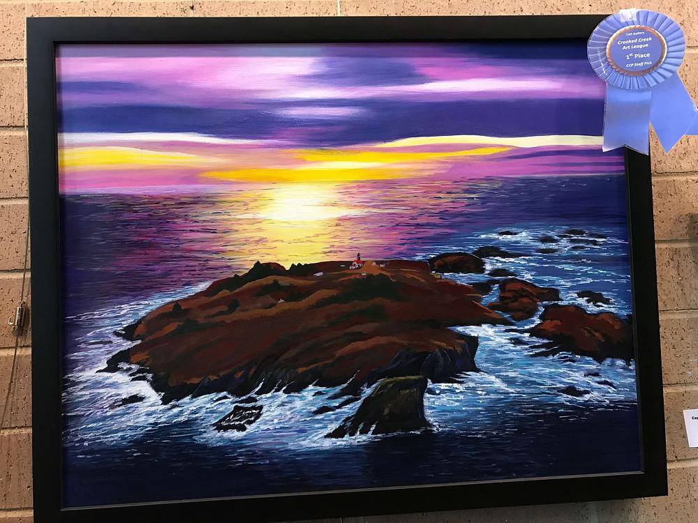 "Painting: ""Cape Flattery, WA State"" by Diane McCavitt"