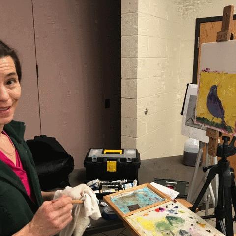 Barbara Teusink working