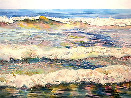 Painting of waves;Helen Beacham