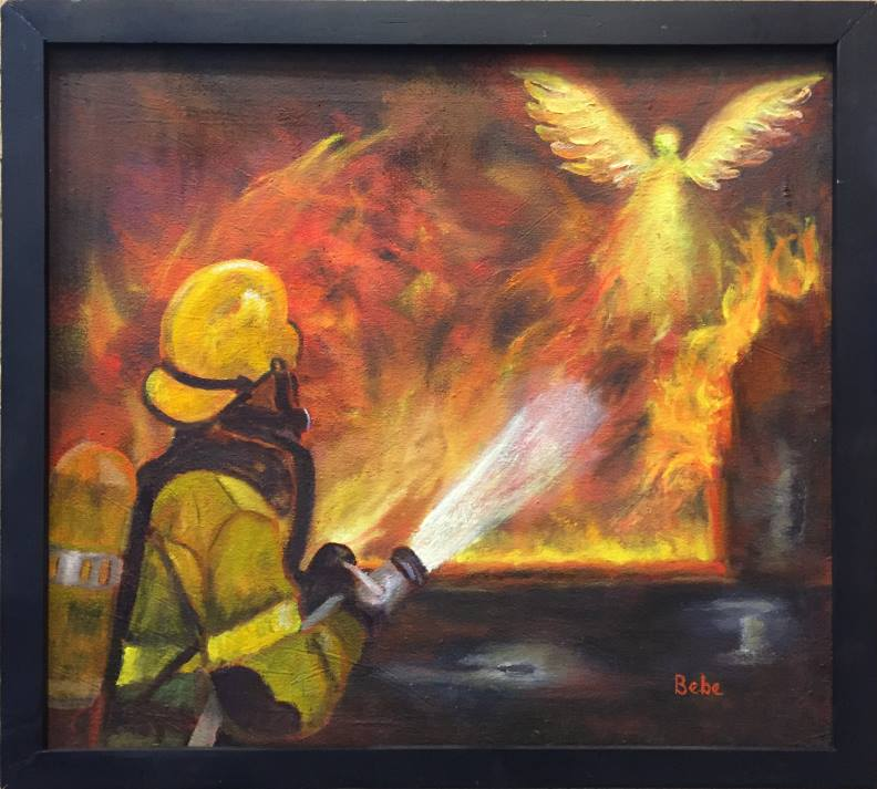 "1st Place  ""Firefighter Angels"" by Bebe Way"