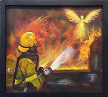 Painting: Firefighter Angels by Bebe Way