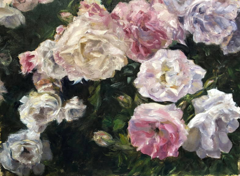 """Painting: """"Summer Maine Roses"""" by Britty Pointer"""
