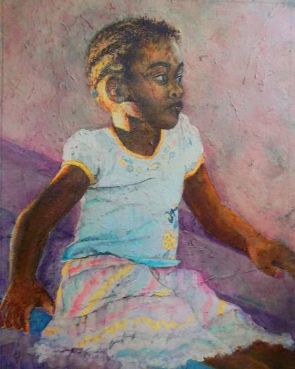 """Original Water Media Painting: """"Soothing Sunshine"""" by Karen Larrabee"""