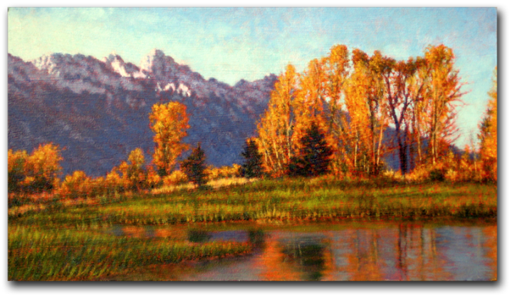 """""""Field of Aspens"""" - a painting by Michael Story"""