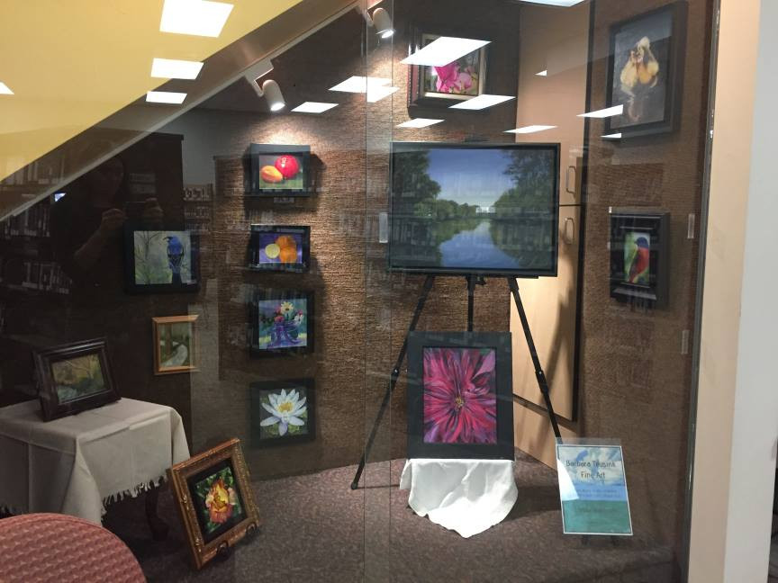 December Artwork Display by Barbara Teusink at Chapin Library