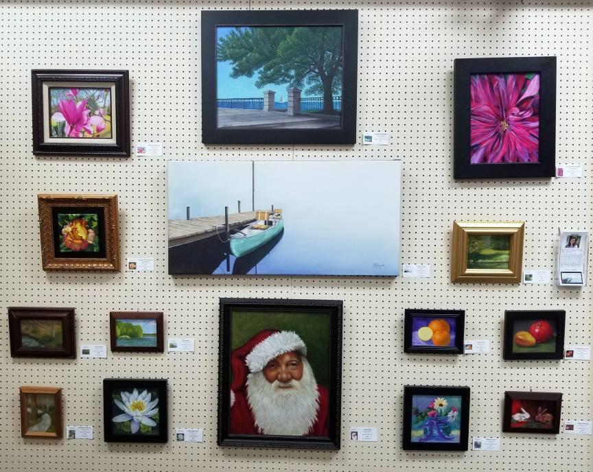 Artwork display - art by Barbara Teusink