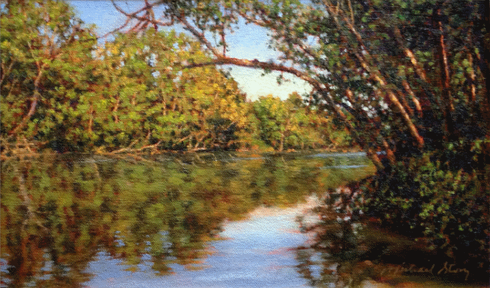 """""""Sweeping Branches"""" - a painting by Michael Story"""