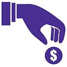 Icon of handing donating money