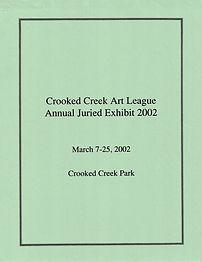 2002 Juried Show Program Cover