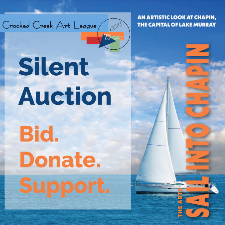 Sail into Chapin Silent Auction Announcement Graphic