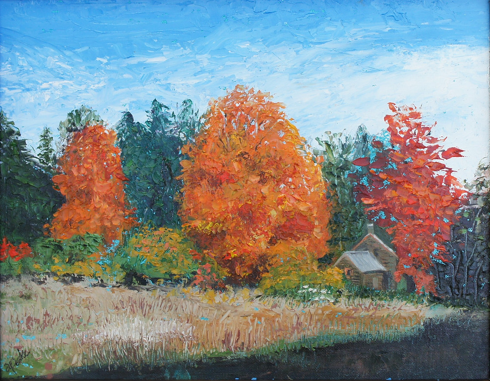 """Oil Painting """"Autumn Comes to the Woods"""" by Ann Peake"""