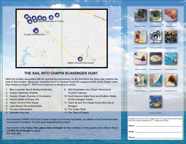 Sail into Chapin Scavenger Hunt Brochure