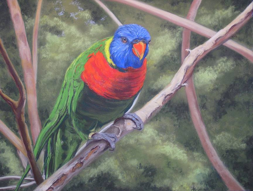 "Pastel Painting ""Sitting Pretty"" by Debra K. Kelly"