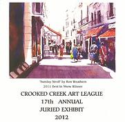 2012 Juried Show Program Cover