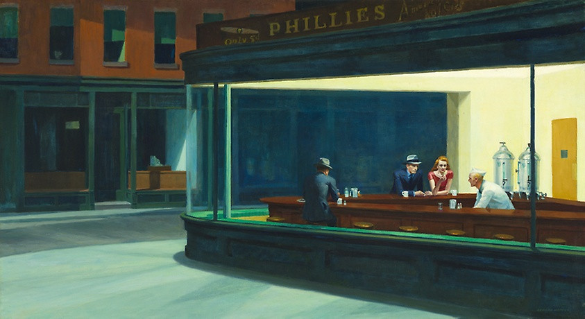 "Painting: ""Nighthawks"" by Edward Hopper"