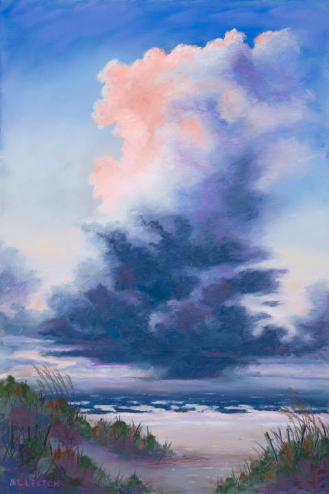 """Pastel Painting """"Dawn's Early Light"""" by Al Leitch"""