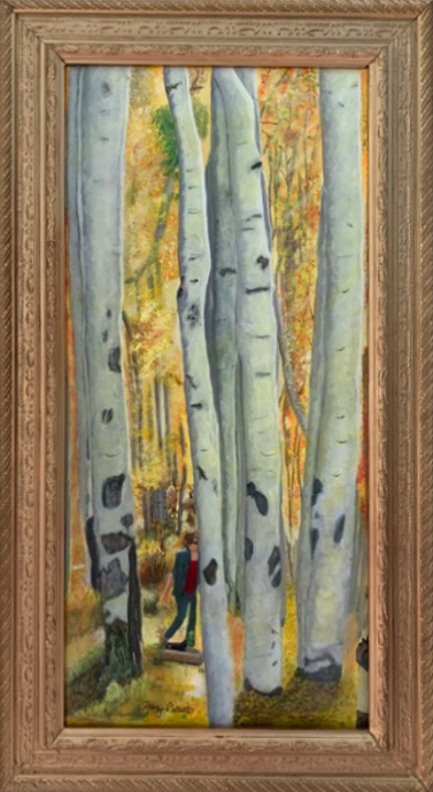"""Original Acrylic Painting: """"Hiking"""" by Mary Collette"""