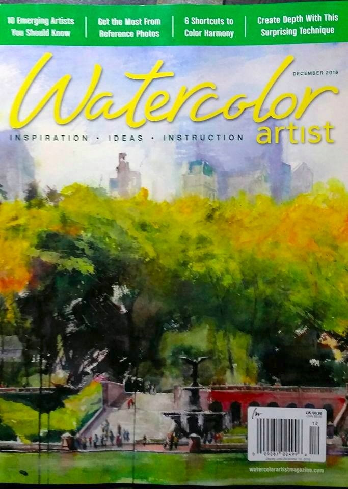 Watercolor Magazine Cover