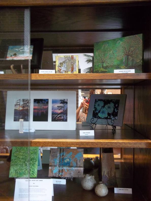 Photo of artwork in display cabinet - right side