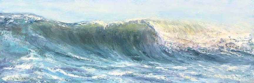 "Painting ""Breaking Surf"" by Sheryl Stalnaker"
