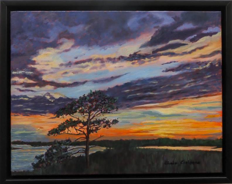 11M.Sunset at Bowens Island