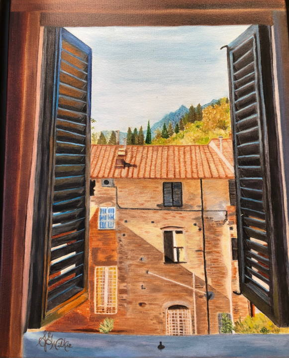 Window to the Tuscan Countryside