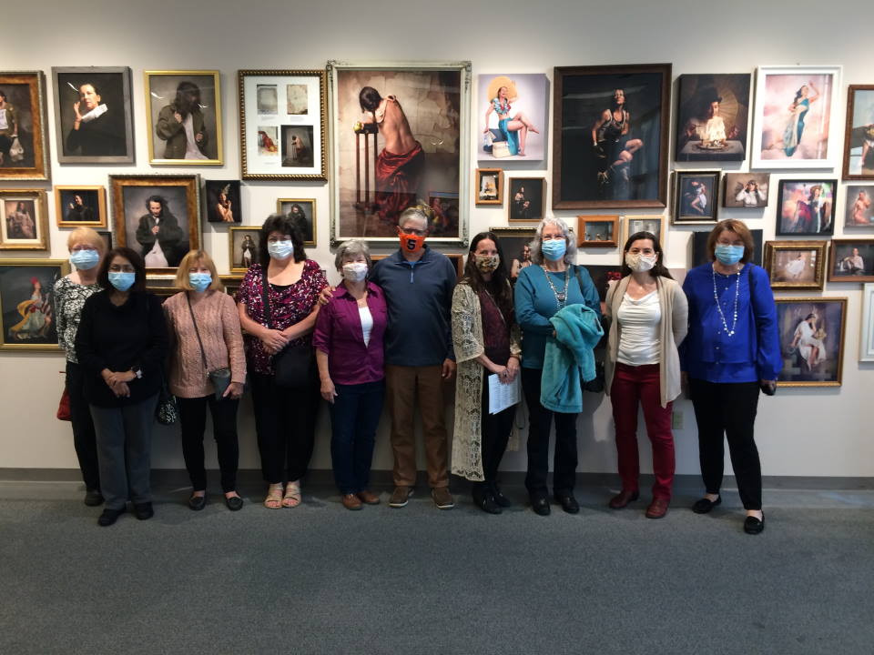 Photo of CCAL Members visiting Kim Case Exhibit at the Koger Center