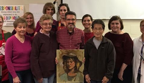 Photo Gallery of Gerard Erley Workshop - Portrait Painting