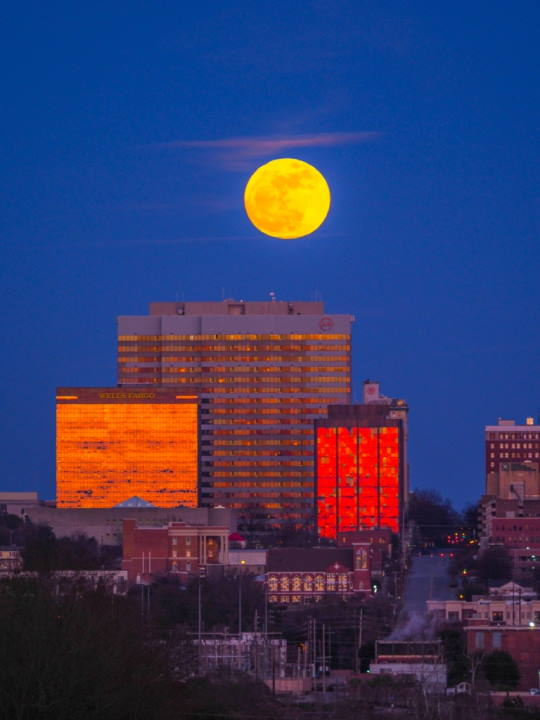 Supermoon Over Columbia